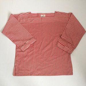 Vintage Liz Claiborne Red stripe Blouse